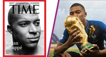 Mbappé, cuarto futbolista en Time; donó todo lo que ganó en el Mundial a niños enfermos