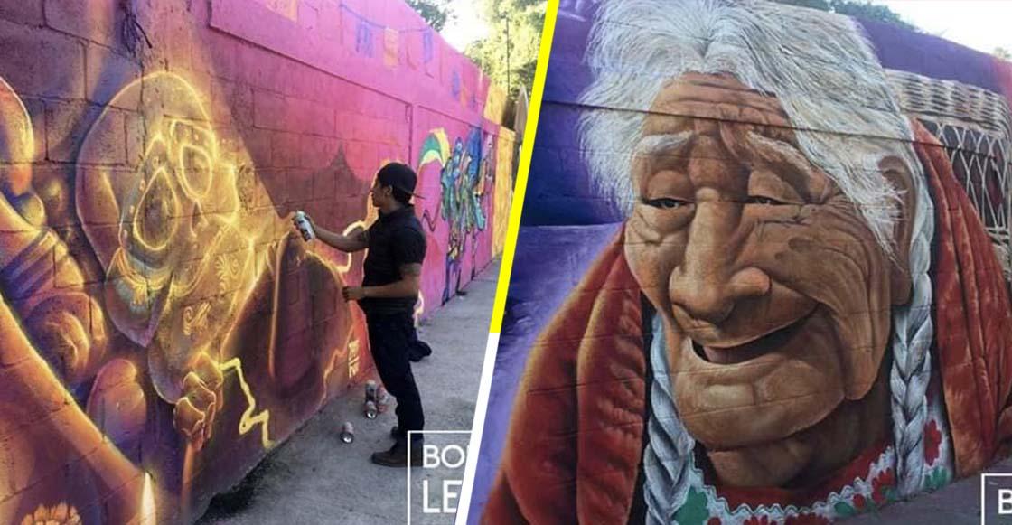 Adornan el panteón de Guanajuato con murales de la película 'Coco'