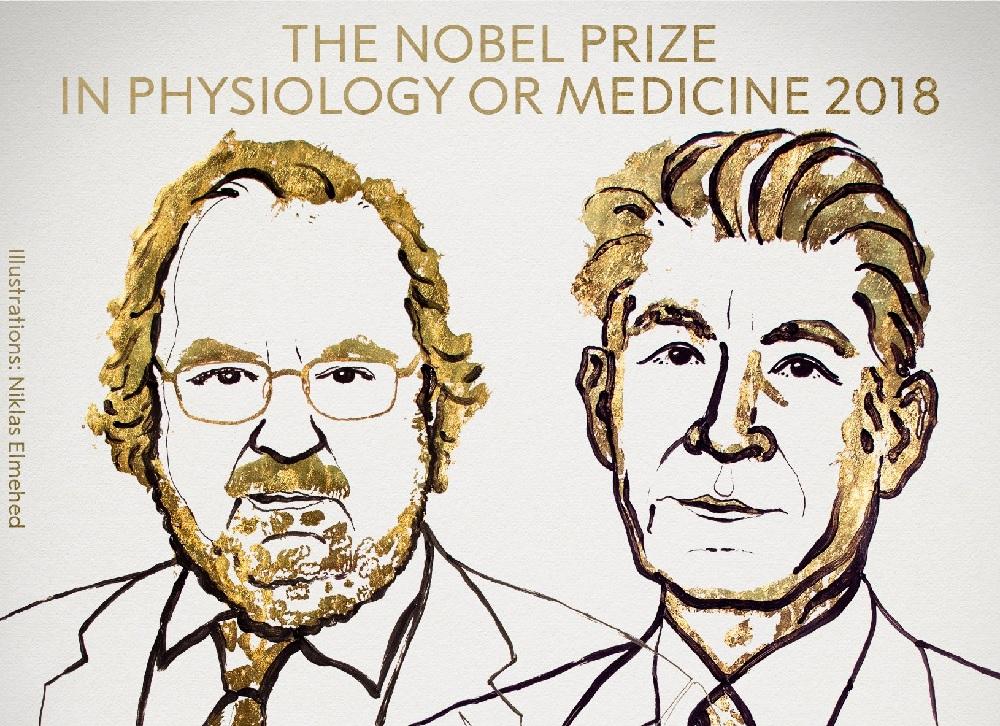 Allison y Honjo,ganadores del Premio Nobel de Medicina 2018