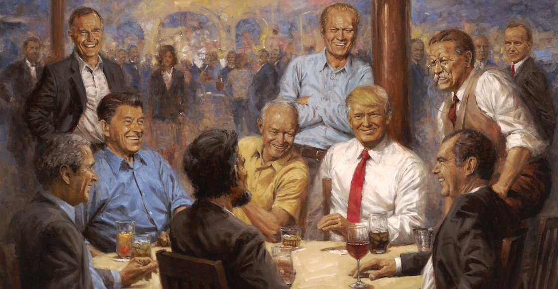 pintura-trump-casa-blanca-presidentes