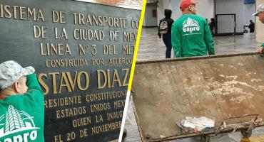 A 50 años del 68: quitan placas de Díaz Ordaz en Metro de la CDMX