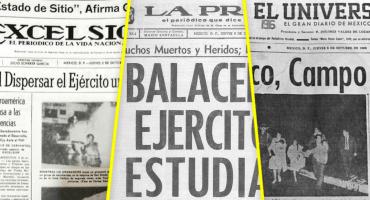 ¿Qué decían las primeras planas del 3 de octubre del 68?