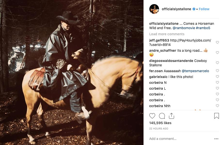 Stallone como vaquero