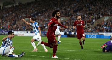Salah le resuelve la tarea al Liverpool ante el Huddersfield con su gol 50 en Inglaterra