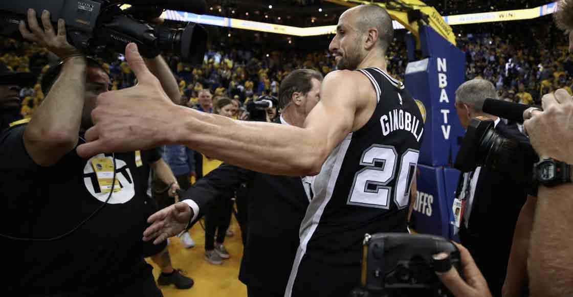 ¡Merecido! Spurs retirarán el número '20' de Manu Ginóbili como tributo