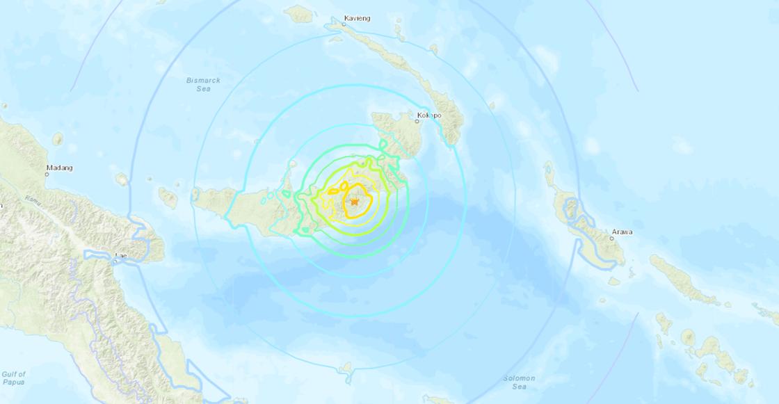 Tres sismos (uno de 5.9, otro de 6.3 y el último de 7) sacuden Papúa Nueva Guinea