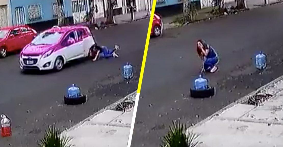 Taxista arrastra a mujer tras choque automovilístico; ya lo están buscando