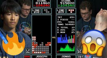 Y así un joven de 16 años le quitó la corona al campeón de Tetris