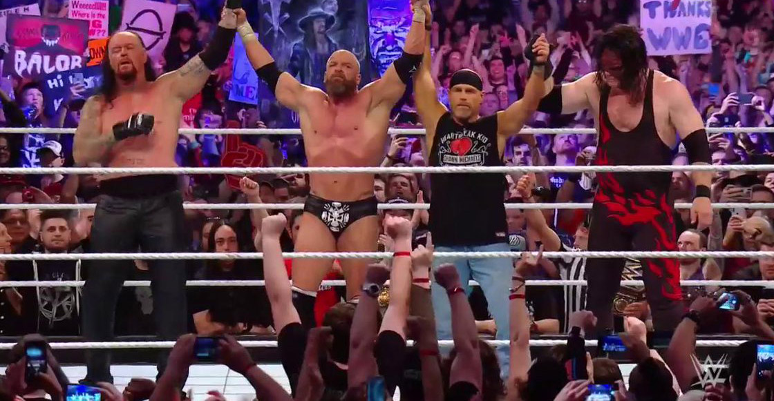 ¡Adiós vaquero! Triple H y Shawn Michales derrotaron a The Undertaker y Kane