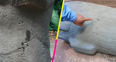 Dos turistas de Indonesia vandalizaron 15 piezas arqueológicas en Tabasco