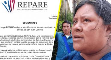 Solo por ser mujer y no ceder su cargo, golpean y amenazan a síndica en Chiapas