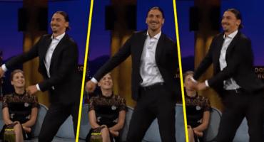 Zlatan Ibrahimovic hizo el Floss Dance en el show de James Corden
