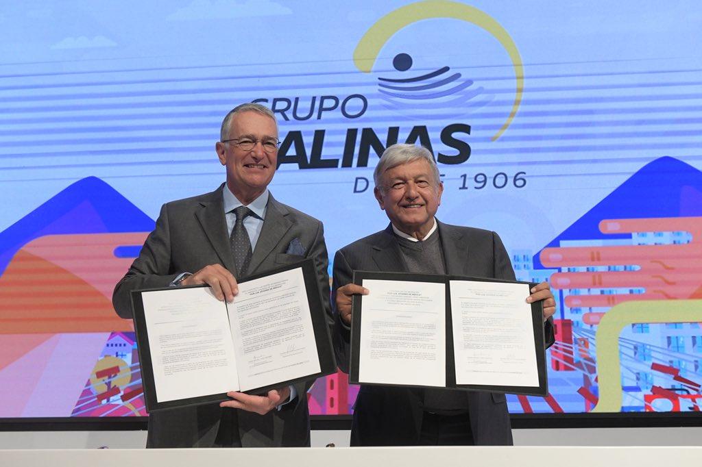 AMLO y Ricardo Salinas PLiego
