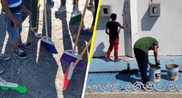 Migrantes que solicitan asilo arman 'brigada de limpieza' en Tapachula