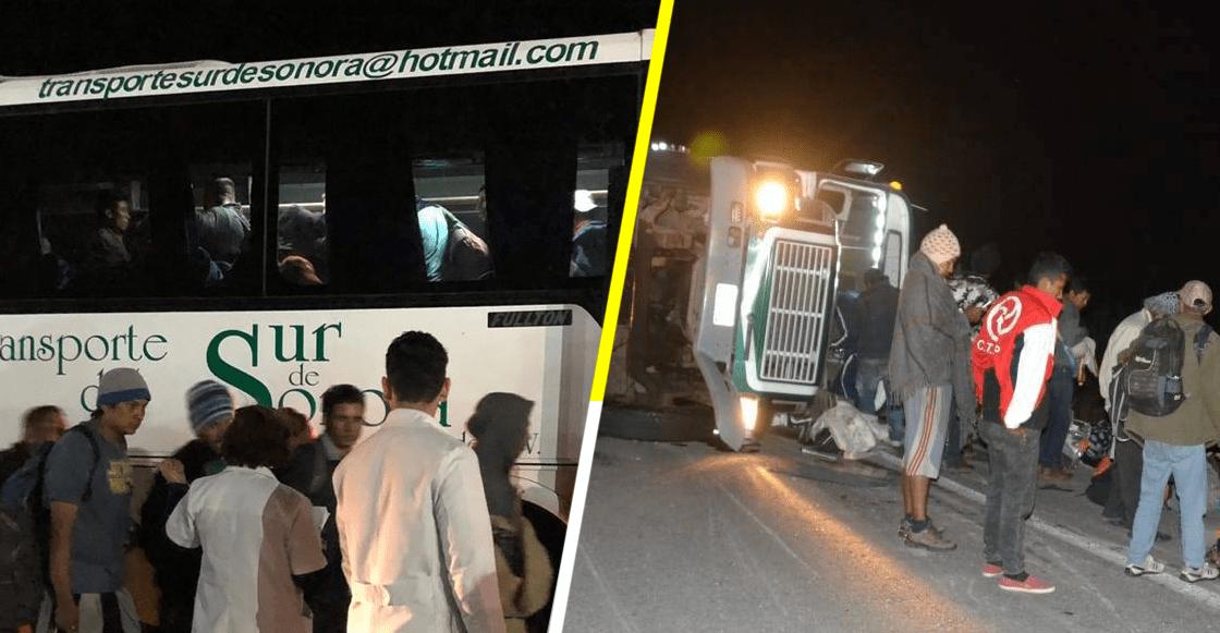 En Sonora, autobuses de la Caravana son detenidos; otro sufre accidente