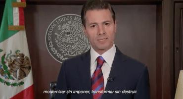 Nomás no chillen: EPN ofrece su último mensaje como presidente de México