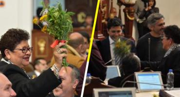 'Contra las malas vibras', diputada de Morena hace 'limpia' en Congreso CDMX