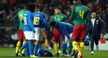¿Más teatro? Esta es la 'lesión' que dejó fuera a Neymar del Brasil-Camerún