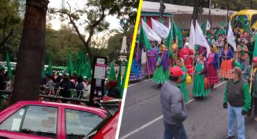 Desde Tlatelolco y el Ángel de la Independencia; campesinos marchan al Zócalo