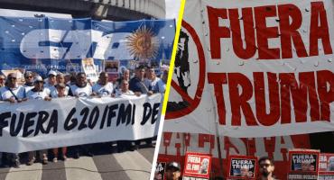 En imágenes: así se vivieron las manifestaciones contra el G20 en Buenos Aires