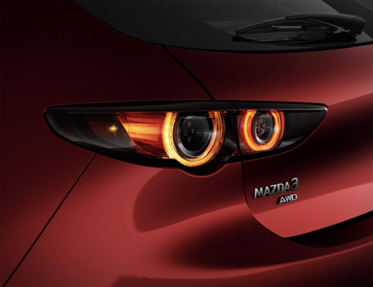 Los detalles exteriores del nuevo Mazda 3 2019 en su versión hatchback