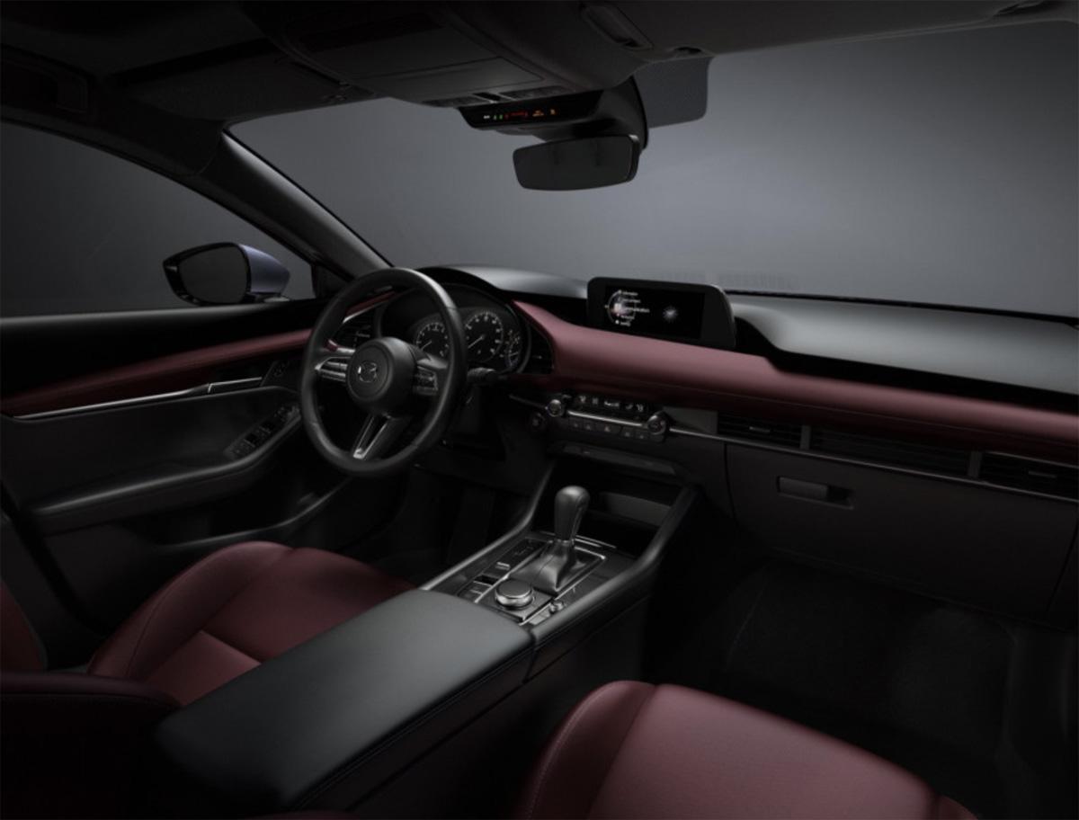 Los interiores del Mazda 3 2019