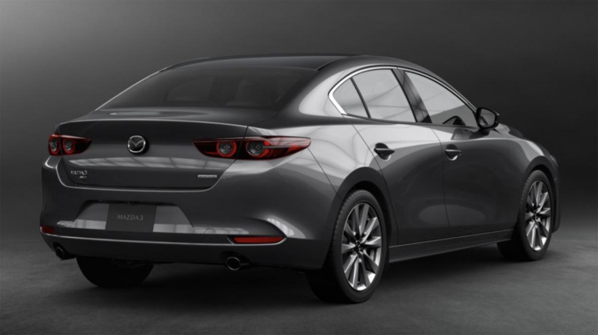 Así luce el exterior del nuevo Mazda 3 2019 en su versión sedán