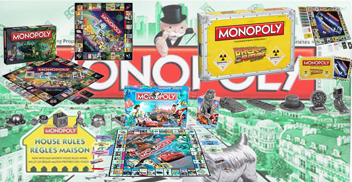 7 versiones de Monopoly de películas y series que necesitas en tu vida