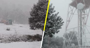 En imágenes: así amanecieron el Popocatépetl y Nevado de Toluca por el Frente Frío