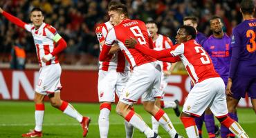 Estrella Roja sorprendió al Liverpool; Monaco casi eliminado