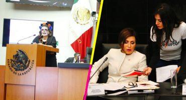 'Está cabrón', dice Gálvez y le regalan 'La Estafa Maestra' a Rosario en el Senado