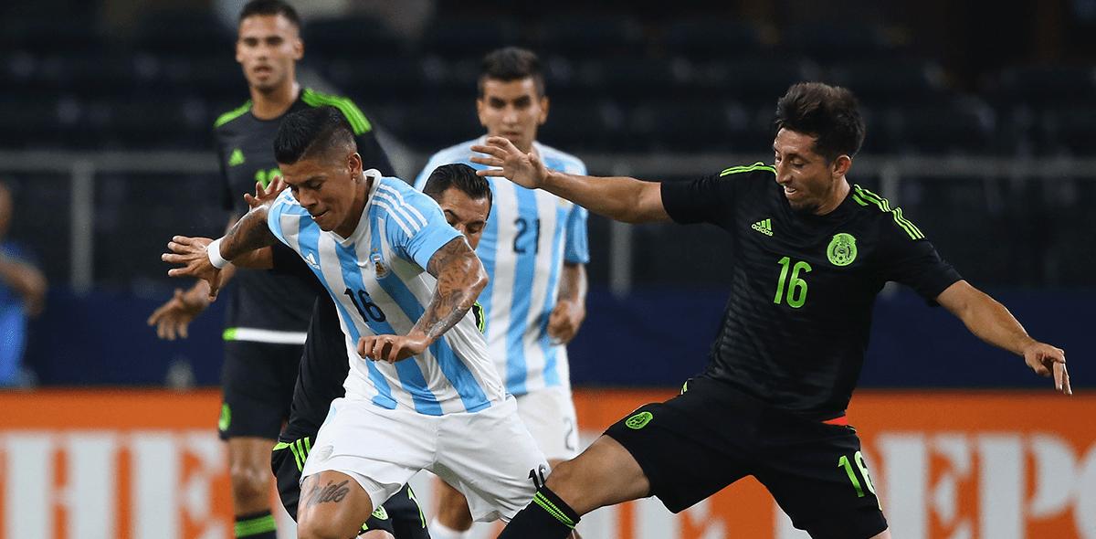 Así le ha ido a México en amistosos frente a Argentina