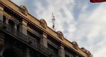 Hombre sube a antena en Isabel la Católica, podría tratarse de un intento de suicidio