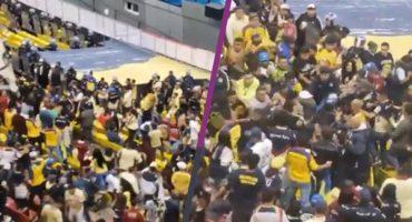 Barra del América protagonizó pelea en el partido contra Toluca… ¡entre ellos!