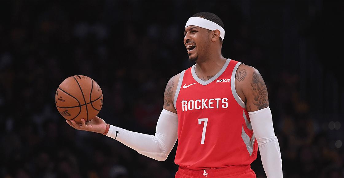 Carmelo Anthony, fuera de los Rockets después de 10 partidos