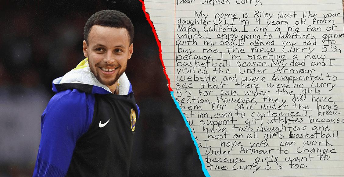El noble gesto de Curry con una niña de nueve años que le hizo una carta
