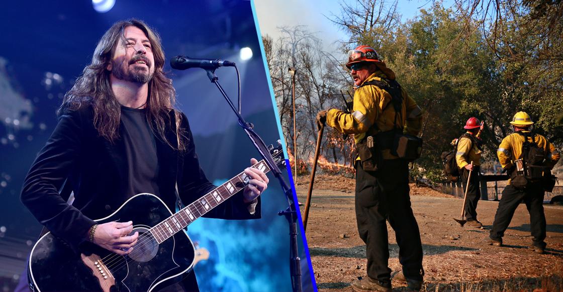 Dave Grohl hace barbacoa para bomberos de California