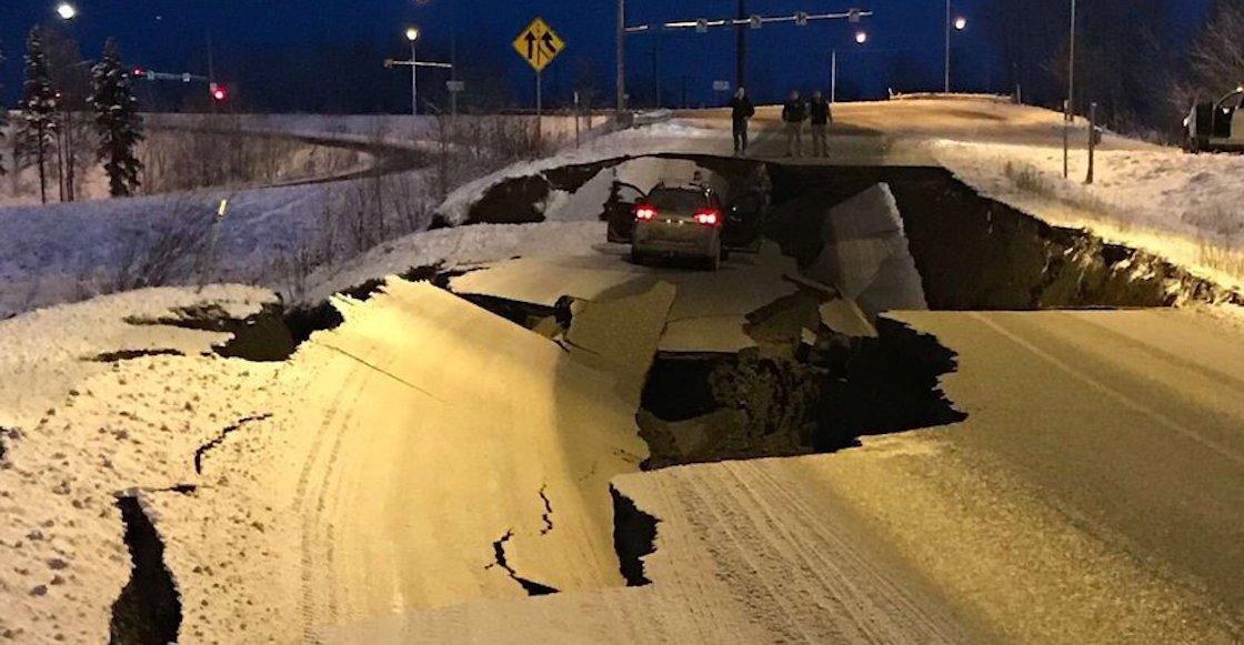 Las impactantes imágenes que dejó el terremoto de 7° en Alaska
