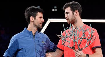Djokovic cae en la final del Masters de París, pero será No. 1 de la ATP