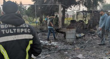 De nueva cuenta, Tultepec es escenario de explosiones en talleres de pirotecnia