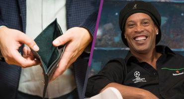 Fiscalía interviene cuentas de Ronaldinho y resulta que sólo tiene… ¡6 euros!