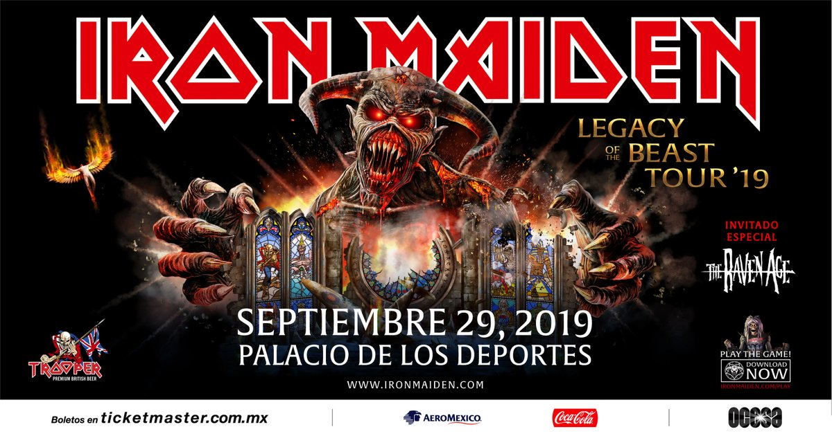 ¡Iron Maiden regresa a México con su Legacy of The Beast Tour!
