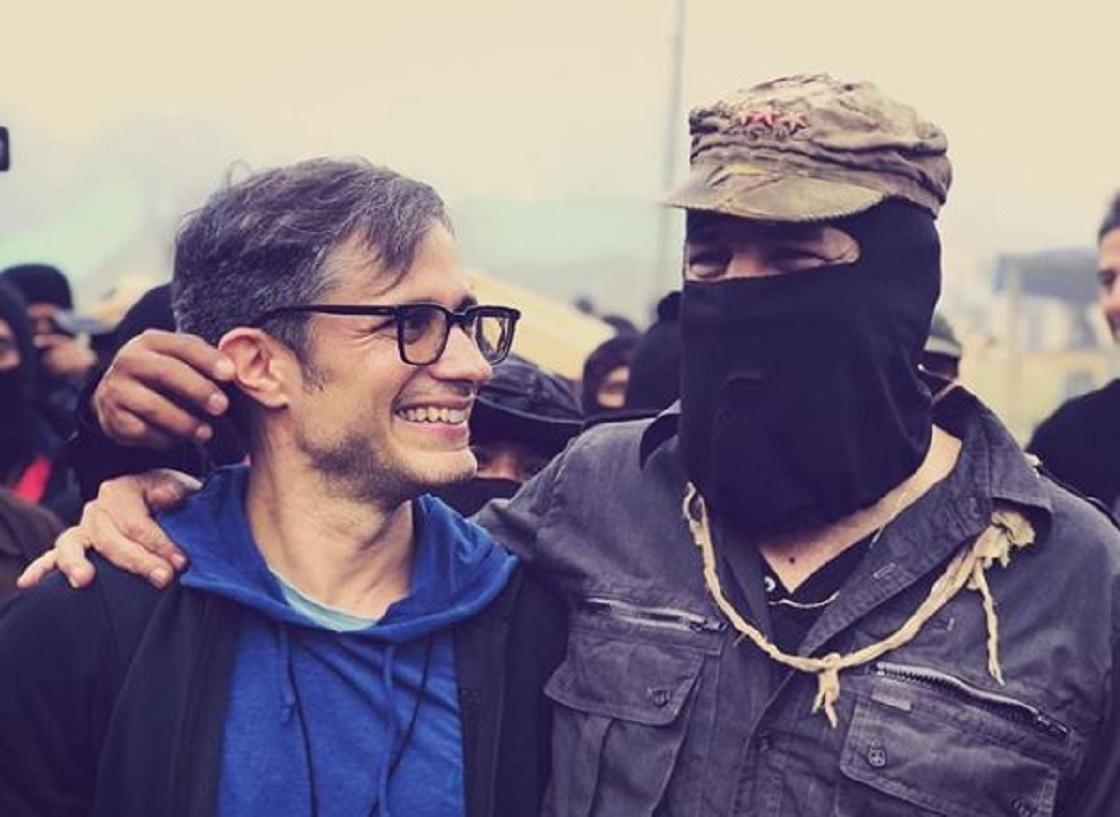 Gal García en un festival zapatista de cine