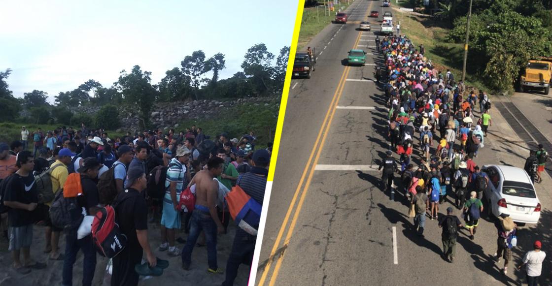 Otro grupo de migrantes salvadoreños entró a México por el río Suchiate
