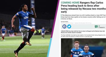 """""""Vuelve a casa"""", así reaccionó la prensa escocesa tras conocer el caso del Gullit Peña"""