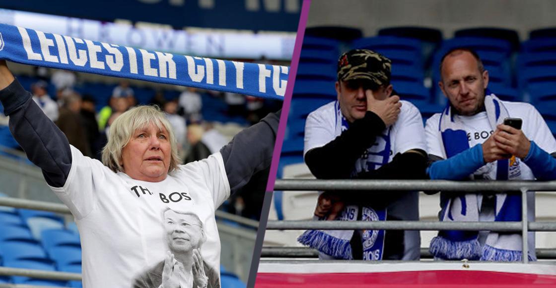 Impactante minuto de silencio por la trágica muerte del dueño del Leicester