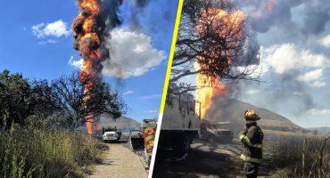 Se incendió una toma clandestina en Tlajomulco, Jalisco; aún no se extingue