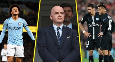 Infantino y en medio de un nuevo escándalo por ayudar al PSG y Manchester City