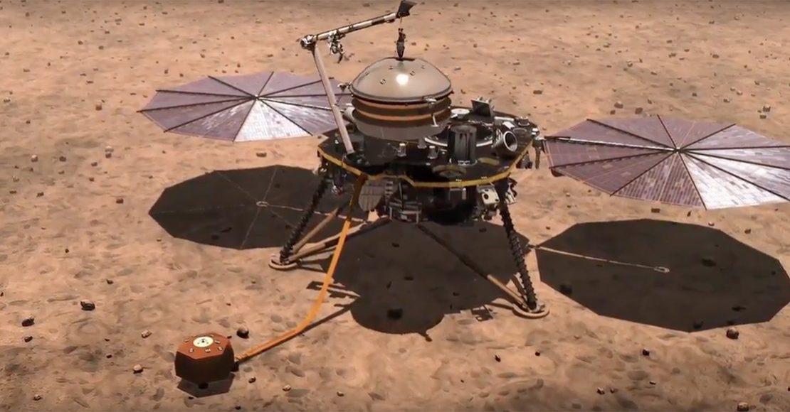 La sonda espacial InSight de la NASA llegó a Marte y esta es la primera foto