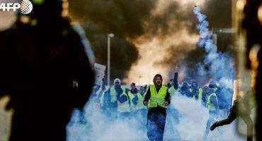 ¡Allá no se dejan! Siguen las protestas en París por el gasolinazo en Francia